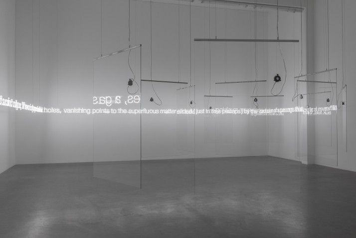 'E=L=A=P=S=E' in Glass with sound - Cerith Wyn Evans