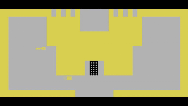 Sean Snyder Adventure Fragment, Atari (Algorithm), 2015 16:9 format HD video, 1 minute 1 second, color, audio, flatscreen monitor