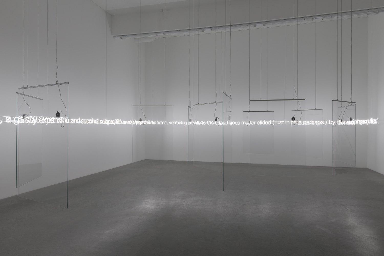 Cerith Wyn Evans Installation view, Galerie Neu, Berlin 2016