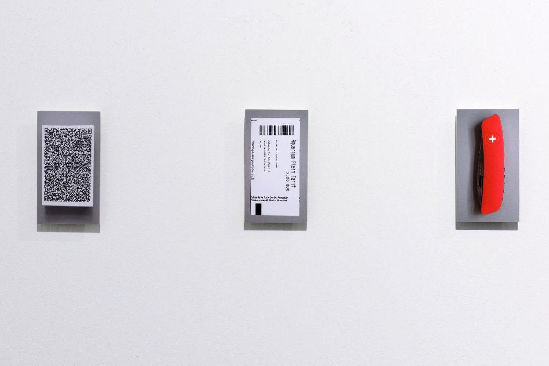 Sean Snyder Kireji, 2016 3 color pentaprints mounted on aluminum, 8 cm x 14.25 cm