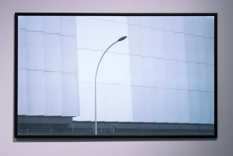 Sean Snyder Storage (46.187 latitude, 6.1271 longitude), 2016 LED lightbox, 119 x 193 x 3 cm