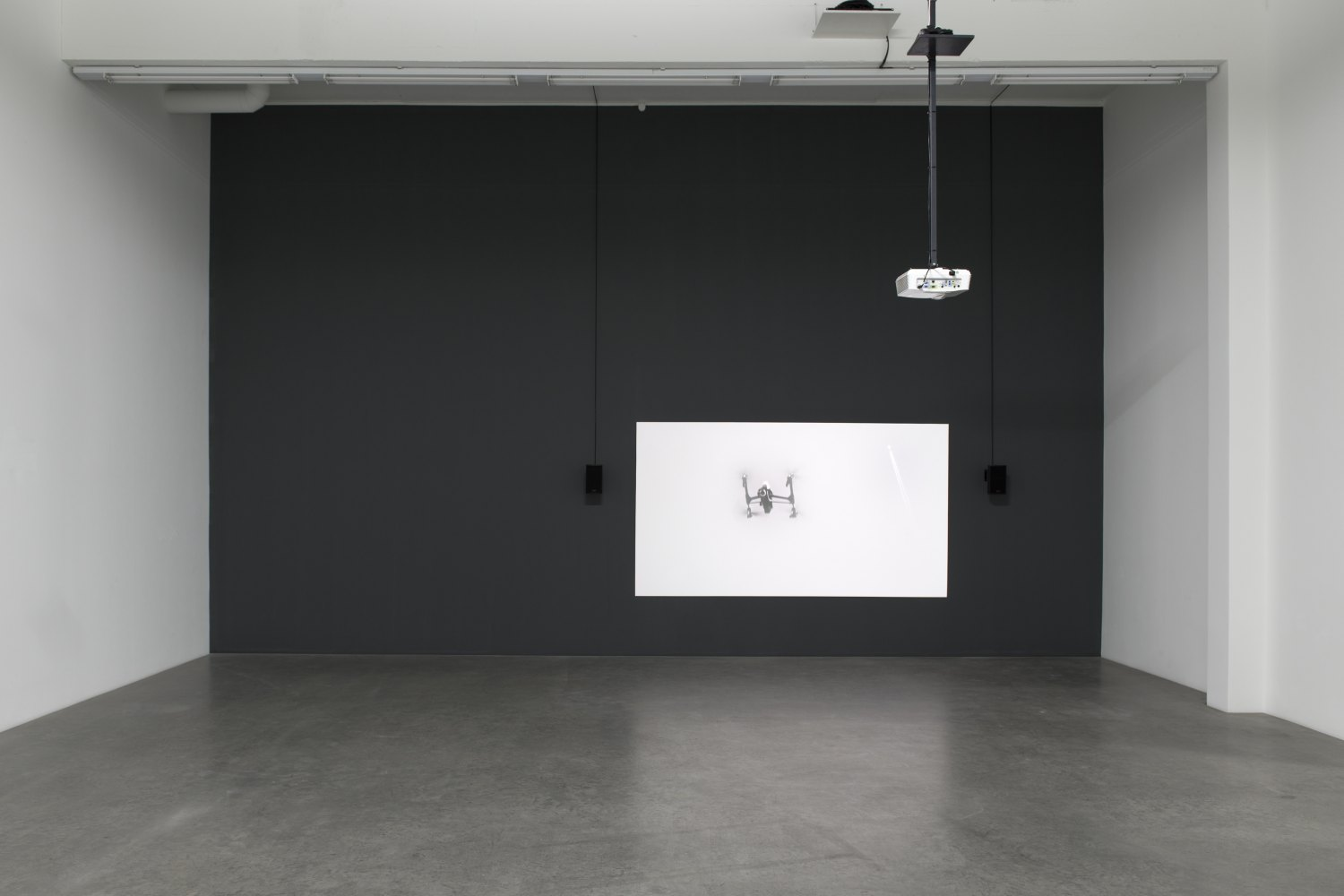 Sean Snyder Cloud Sediment (Gstaad), 2015 - 2016 16:9 format HD video, 7 minutes 47 seconds, black and white and color, audio, 180 cm x 320 cm projection on wall painted RAL 9043