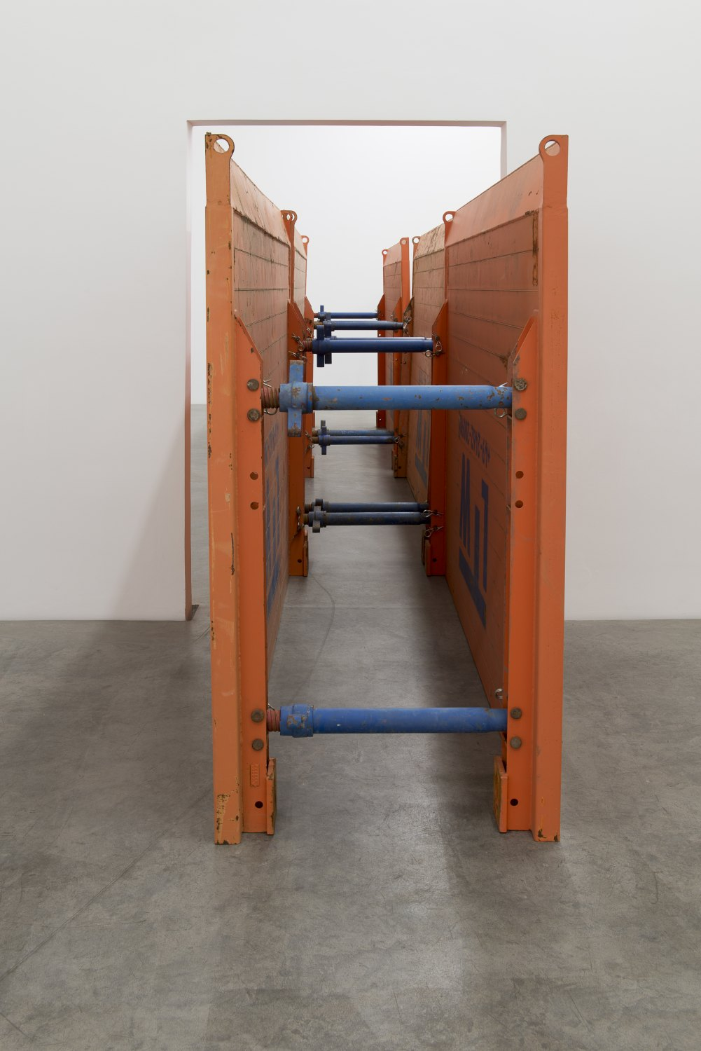Matias Faldbakken & Leander   Djønne, Void to Void, 2017    Trench boxes, dimensions variable