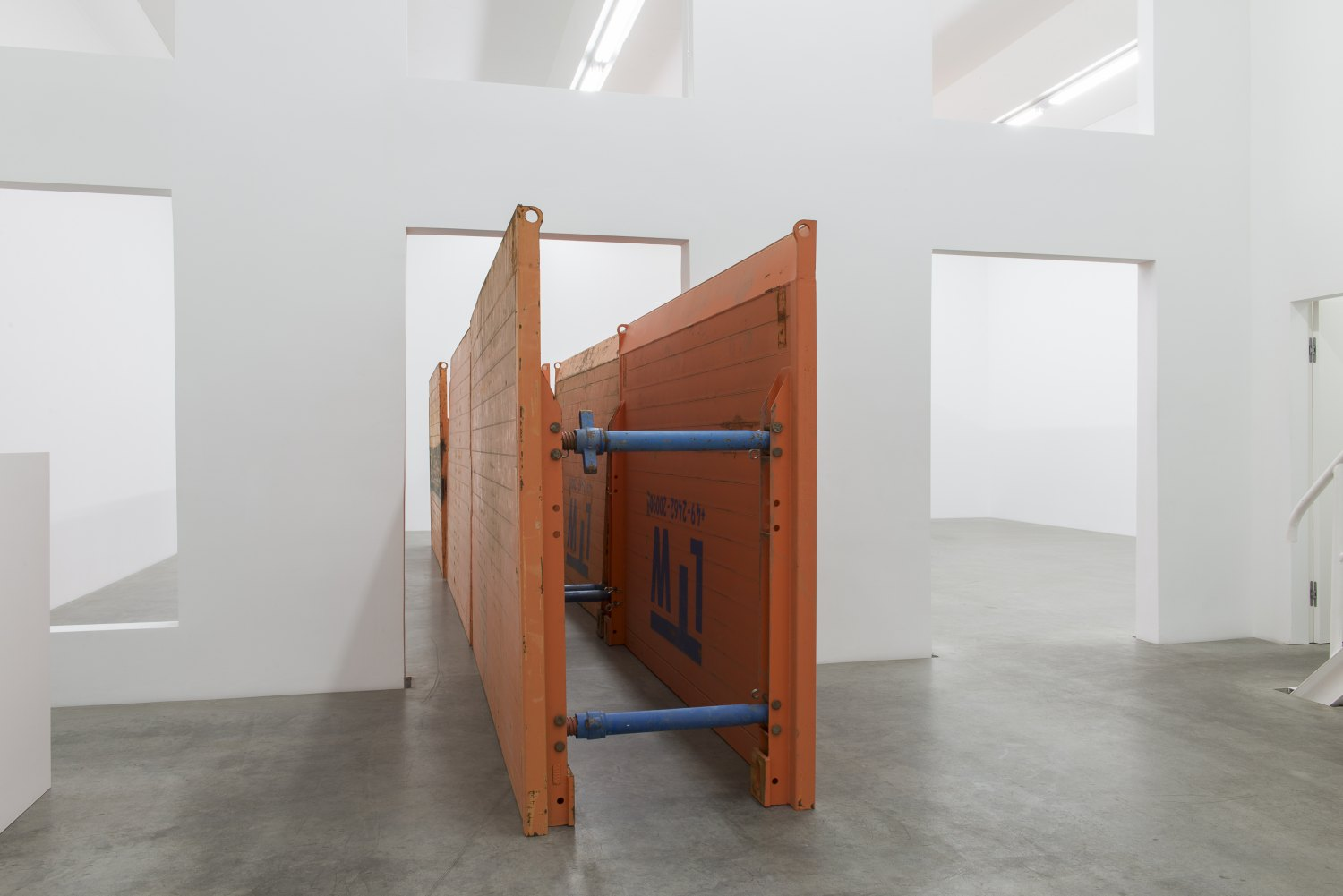 Matias Faldbakken & Leander Djønne Void to Void, 2017  Trench boxes, dimensions variable