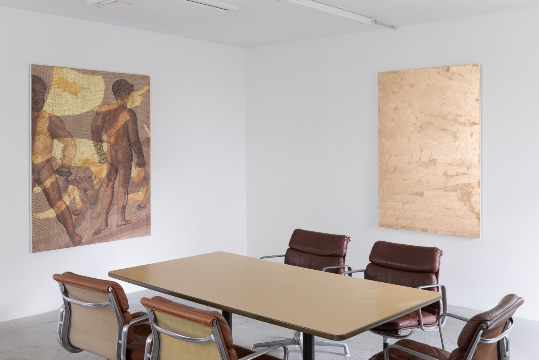 Sergej Jensen The Weather Installation view, Galerie Neu, Berlin 2017