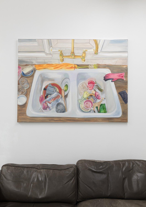 Jill Mulleady Self Portrait, 2017 Oil on canvas 121 x 90 x 2 cm