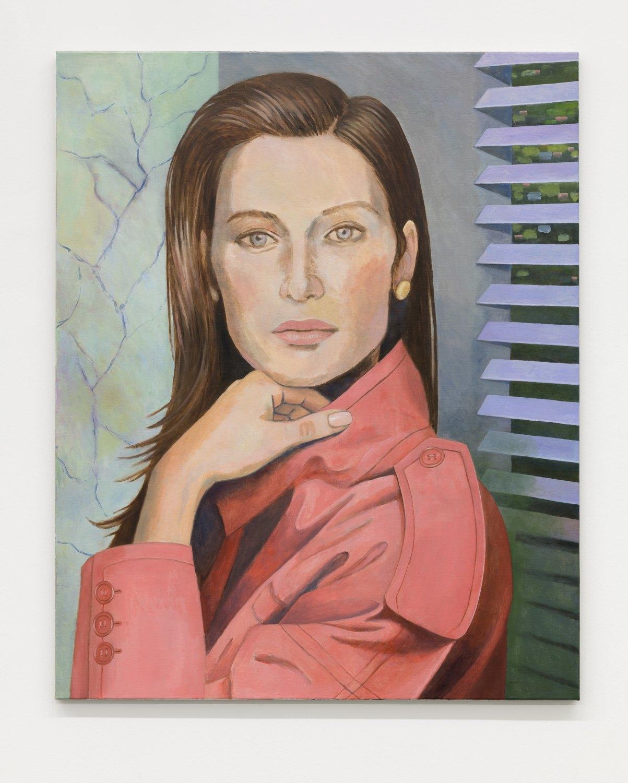 Birgit Megerle Charade, 2018 Oil on linen, 130 x 105 x 2,5 cm