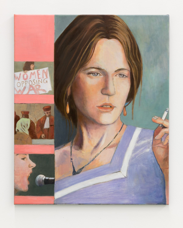 Birgit Megerle Kid Woolf, 2018 Oil on linen, 70 x 57 x 2 cm