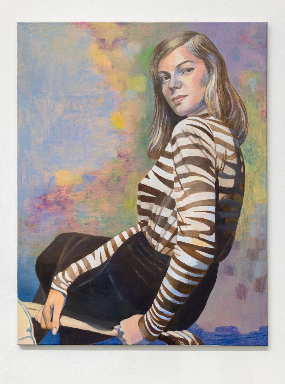 Birgit Megerle Radiation, 2018 Oil on linen, 110 x 85 x 2 cm