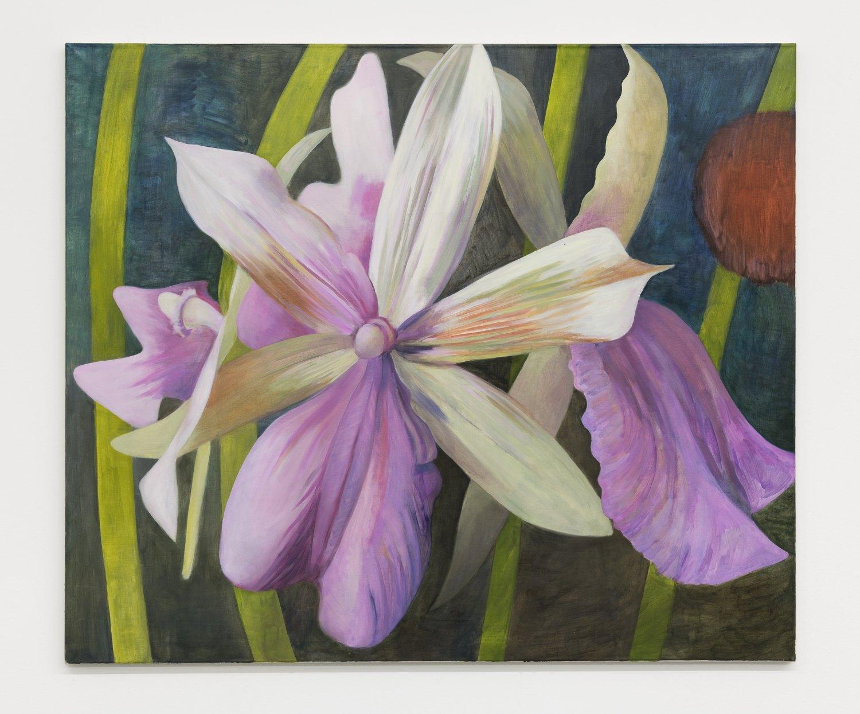 Birgit Megerle Orchid Nr. 1, 2016 Oil on linen, 130 x 110 x 2,5 cm