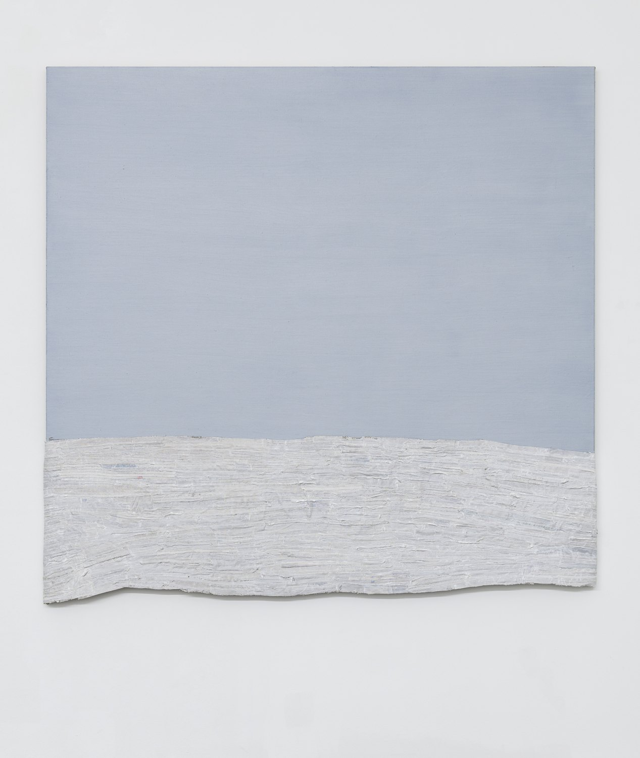 Sergej Jensen  Marine Layer, 2017 Acrylic and oil on sewn linen, 175 x 188 x 3 cm