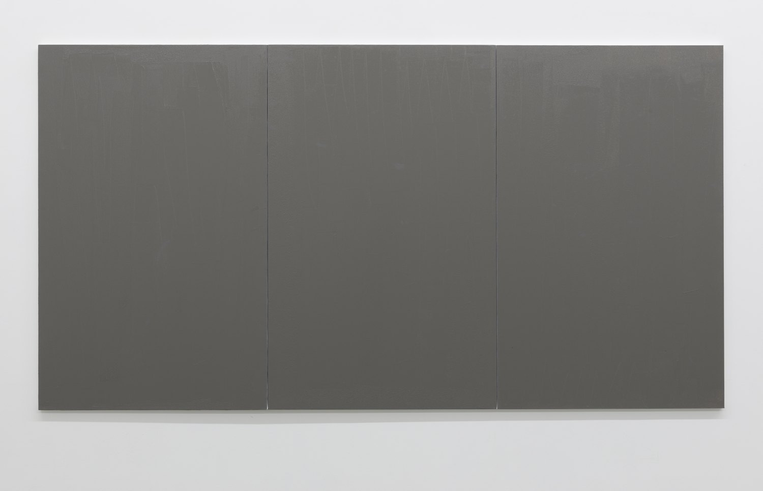 Claire Fontaine Untitled (Fresh monochrome / grey / grey / grey), 2016 Anti climb paint, wood and canvas, 160 x 300 x 4 cm