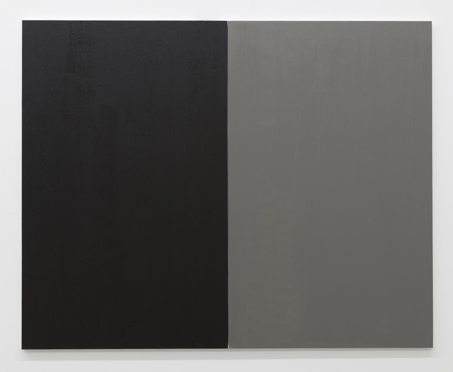 Claire Fontaine Untitled (Fresh monochrome/ black / grey), 2016 Anti climb paint, wood and canvas, 160 x 200 x 3 cm
