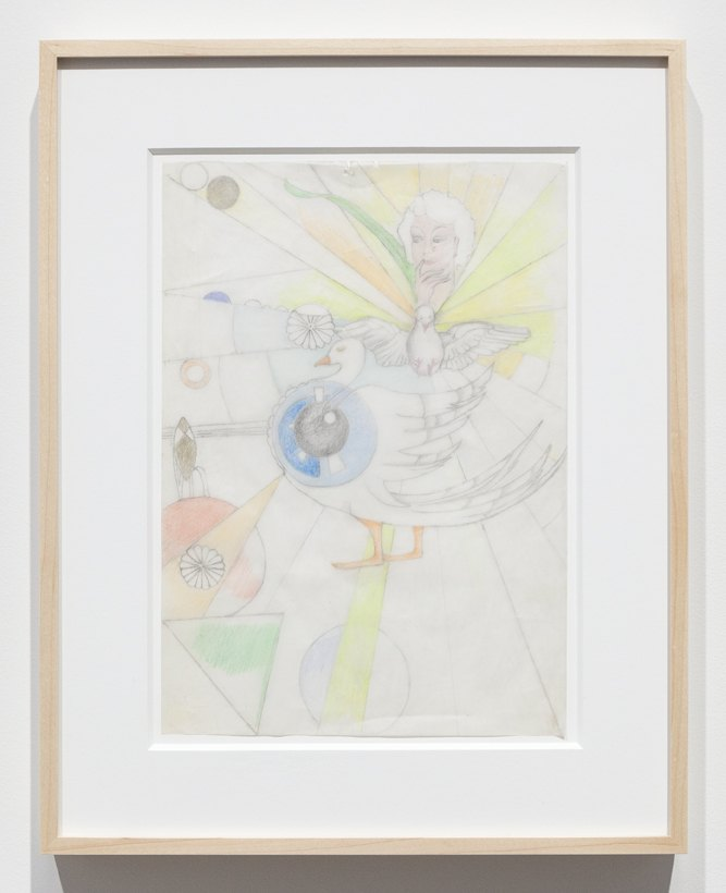 Katharina Wulff Untitled, 2016 Pencil, colored pencil on transparent paper, 29,5 x 21 cm
