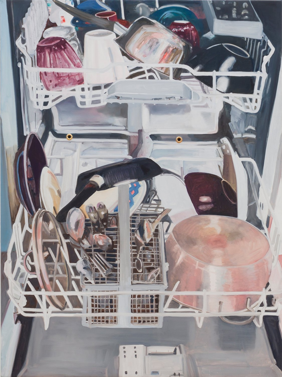 Jill Mulleady Beating the System, 2015 Oil on canvas, 105 x 91 cm