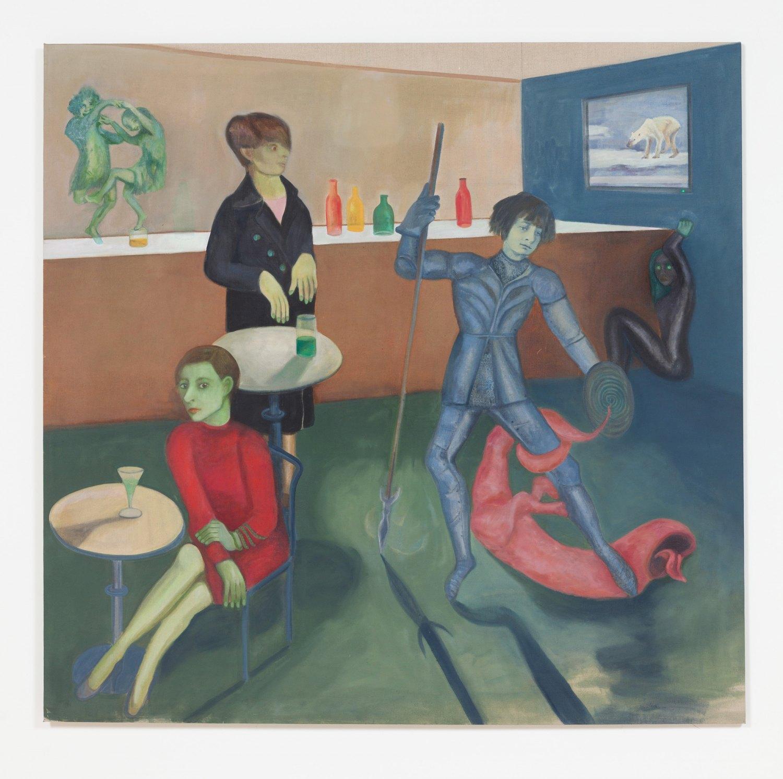 Jill Mulleady Kleptocracy, 2017 Oil on linen, 165 x 171 cm