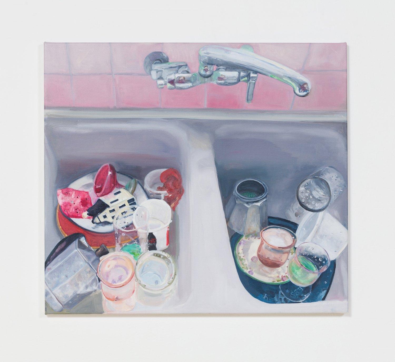 Jill Mulleady Spray la vie, 2017 Oil on canvas, 52 x 57 cm
