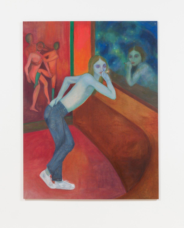 Jill Mulleady Prince S, 2017 Oil on linen, 165 x 126 cm