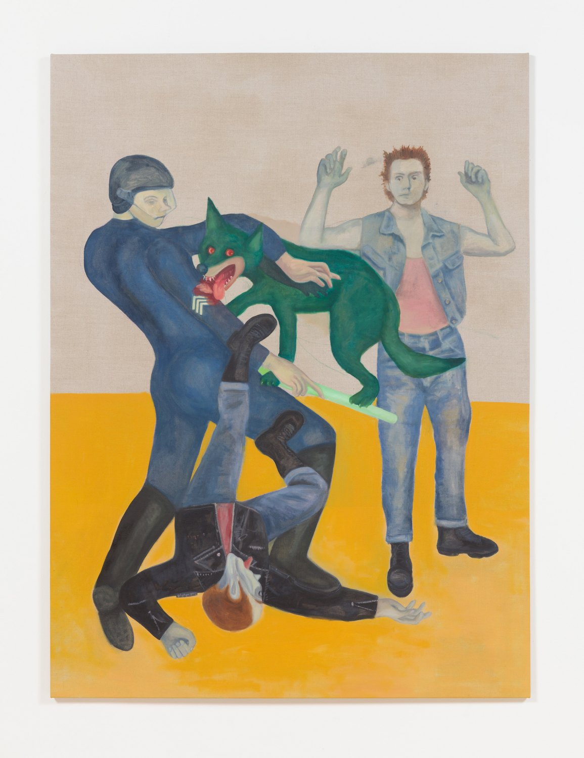 Jill Mulleady The fight was fixed, 2017 Oil on linen, 165 x 126 cm