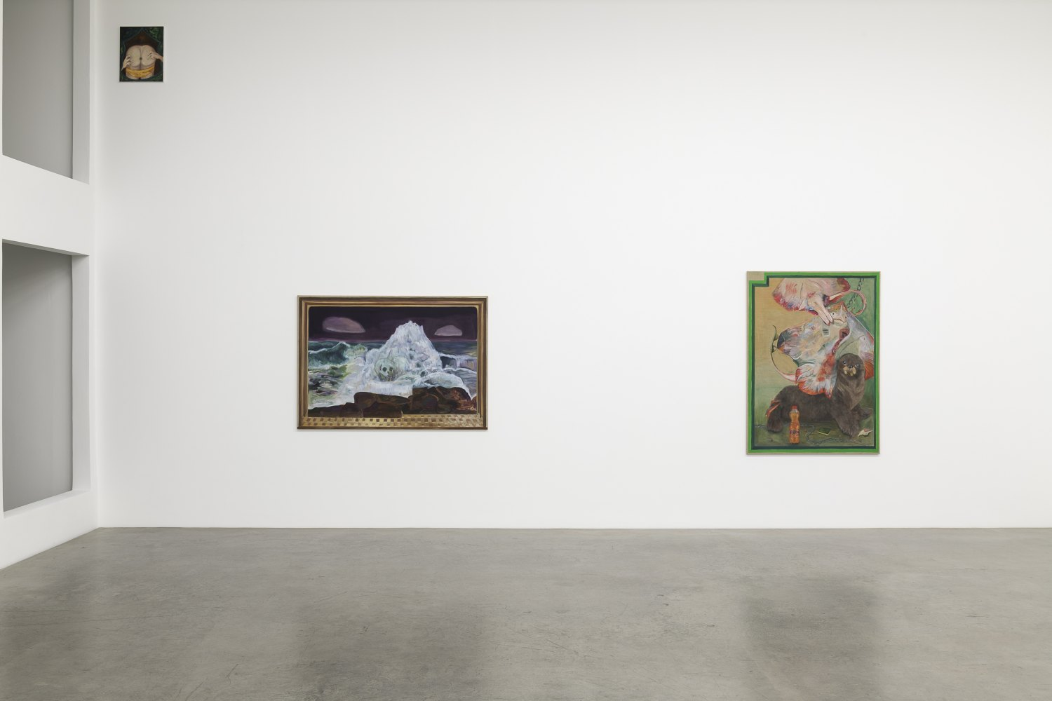 Jill Mulleady Mouth-to-Mouth Installation view, Galerie Neu, Berlin 2018