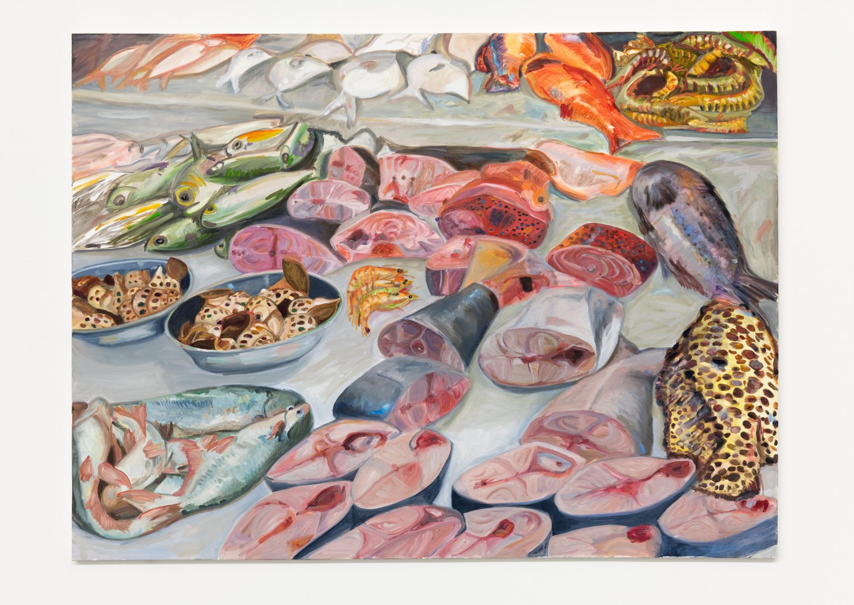 Jill Mulleady Still life on ice, 2018 Oil on canvas, 92 x 122 cm