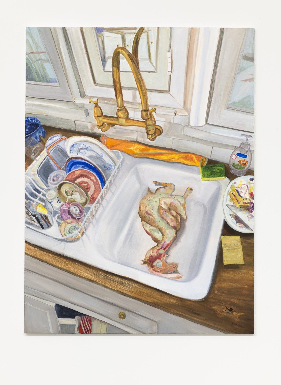 Jill Mulleady Dead Cock, 2018 Oil on canvas, 122 x 90 cm