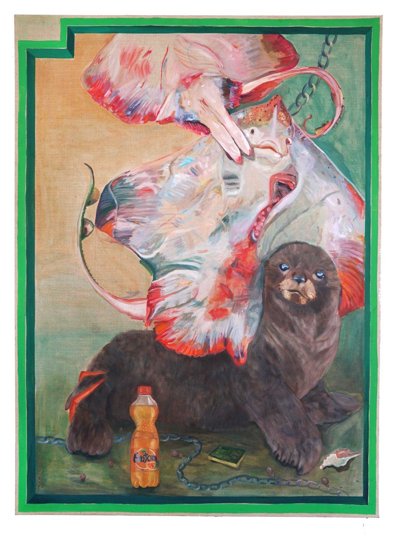 Jill Mulleady Fantom, 2018 Oil on linen, 167 x 122 cm