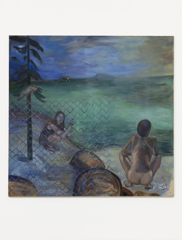 Jill Mulleady Point Lobos, 2018 Oil on linen, 168 x 173 cm