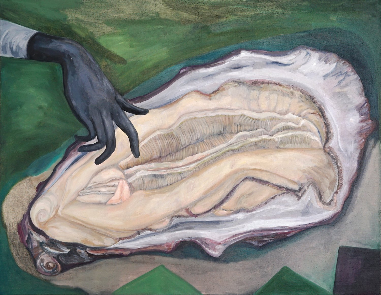Jill Mulleady Locus Solus, 2018 Oil on linen, 94 x 122 cm