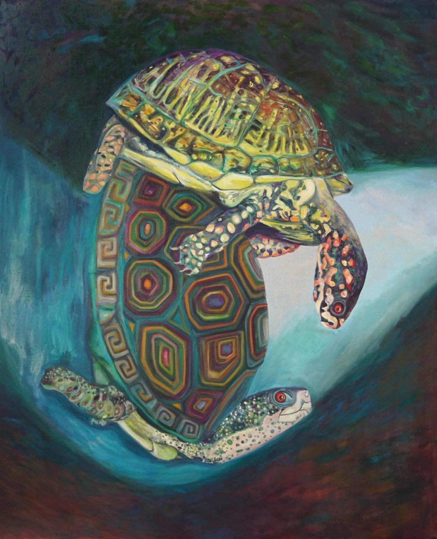 Jill Mulleady Eye contact, 2018 Oil on linen, 167 x 137 cm