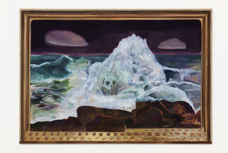 Jill Mulleady The Green Wave, 2018 Oil on linen, 122 x 174 cm