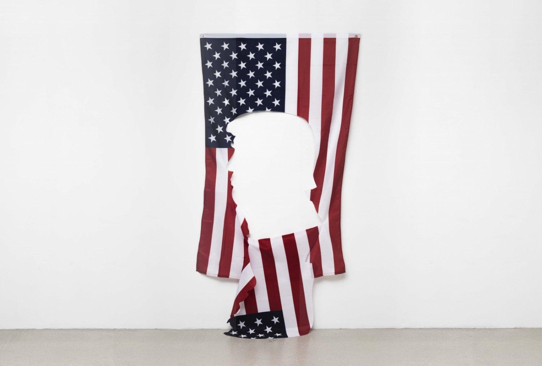 Claire Fontaine Untitled (Negative), 2016 Nylon flag, 120 x 180 cm