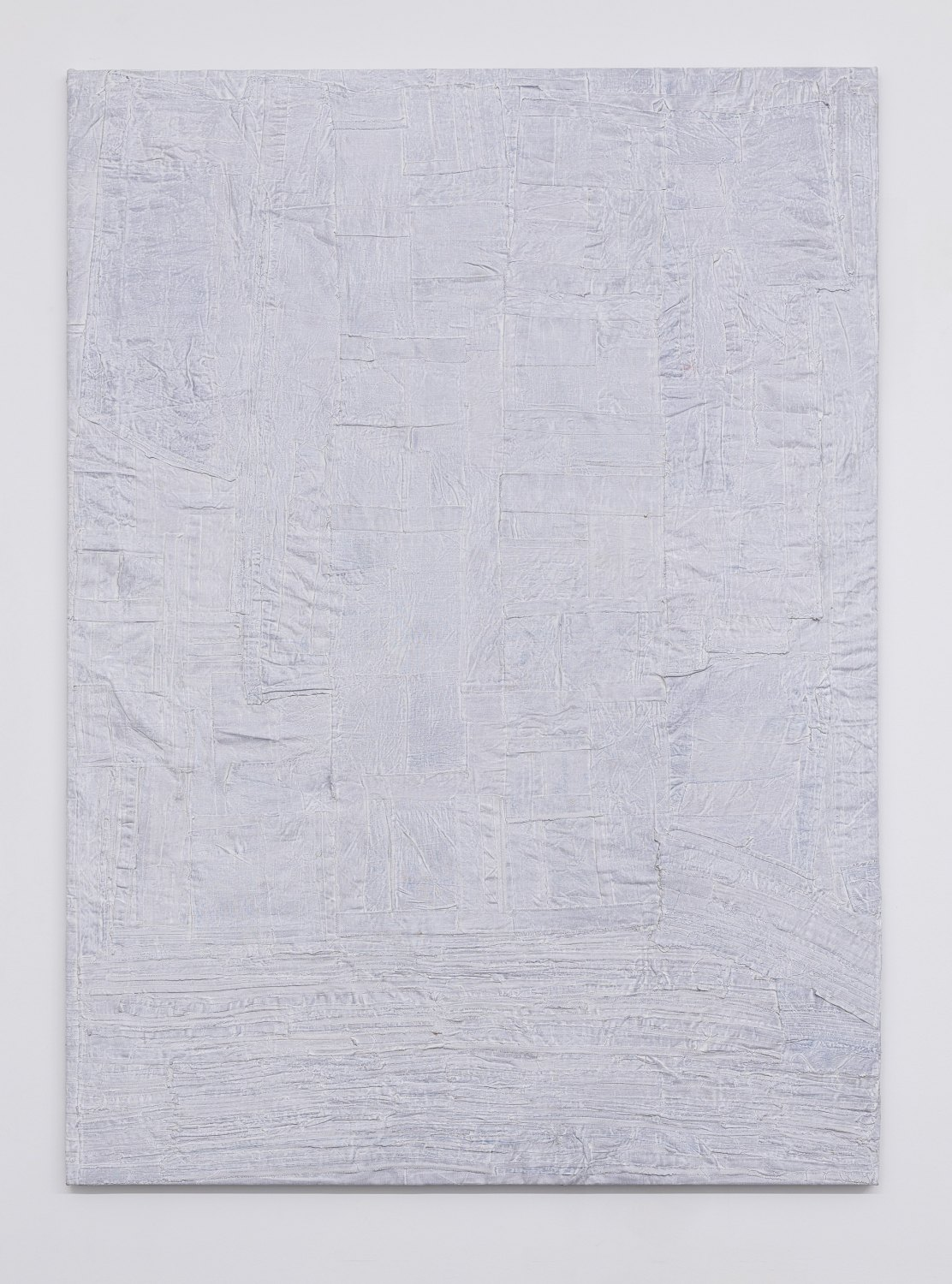 Sergej Jensen Internal Deformation, 2017 Acrylic on sewn linen, 241 x 175 x 4 cm