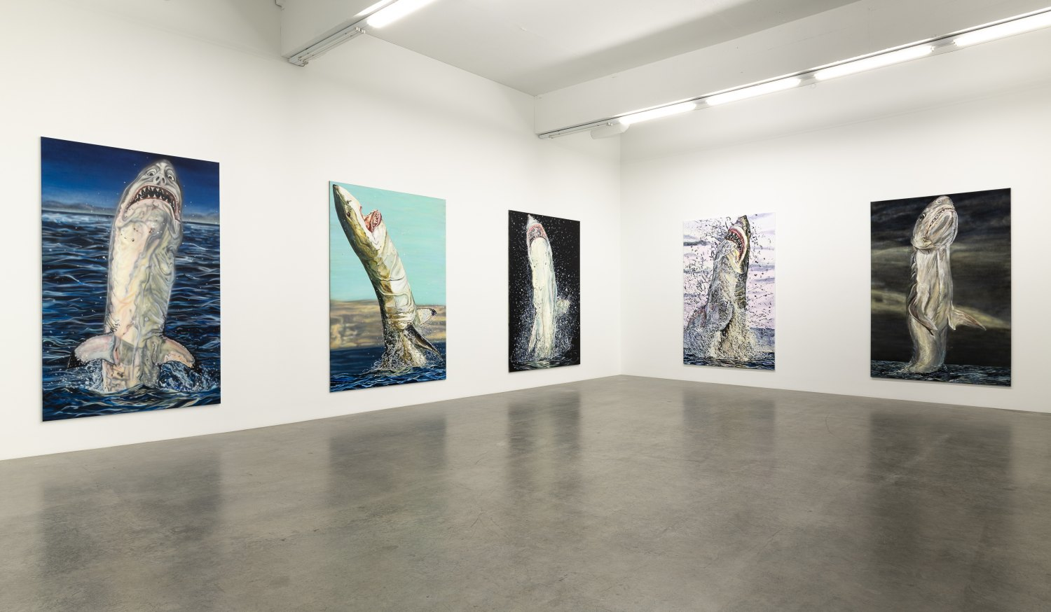 Installation view, Jana Euler, Great White Fear, Galerie Neu, 2019