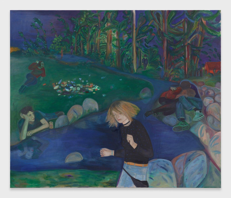 Jill Mulleady Exterior, 2019 Oil on linen, 168 x 200 cm
