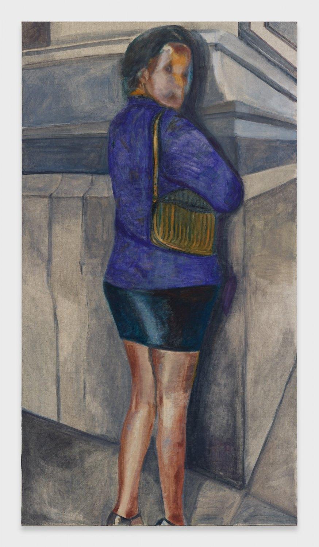 Jill Mulleady Woman in Purple, 2019 Oil on linen, 165 x 90 cm