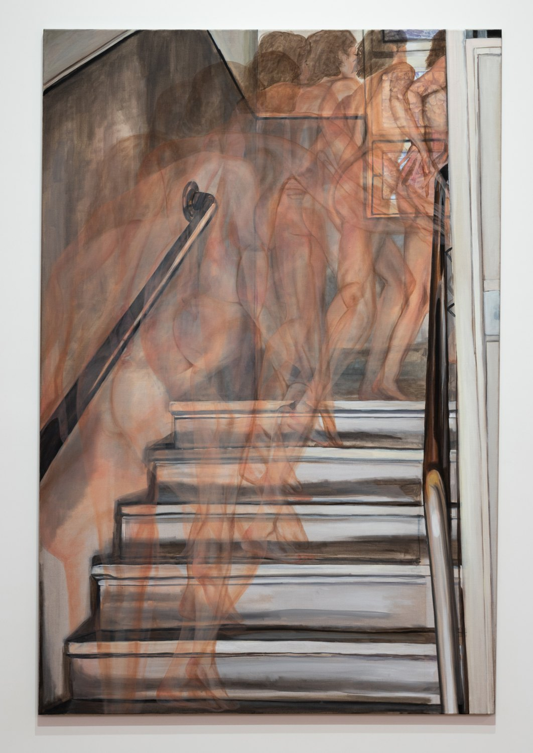 Jana Euler Nude Climbing Up the Stairs, 2014 Oil on canvas, 180 x 120 cm