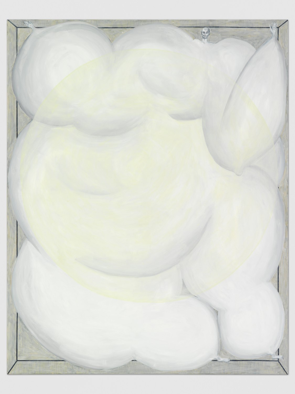 Jana Euler Men Painted with no Eyes (Projection), 2014 Oil on Canvas, 150 x 150 cm
