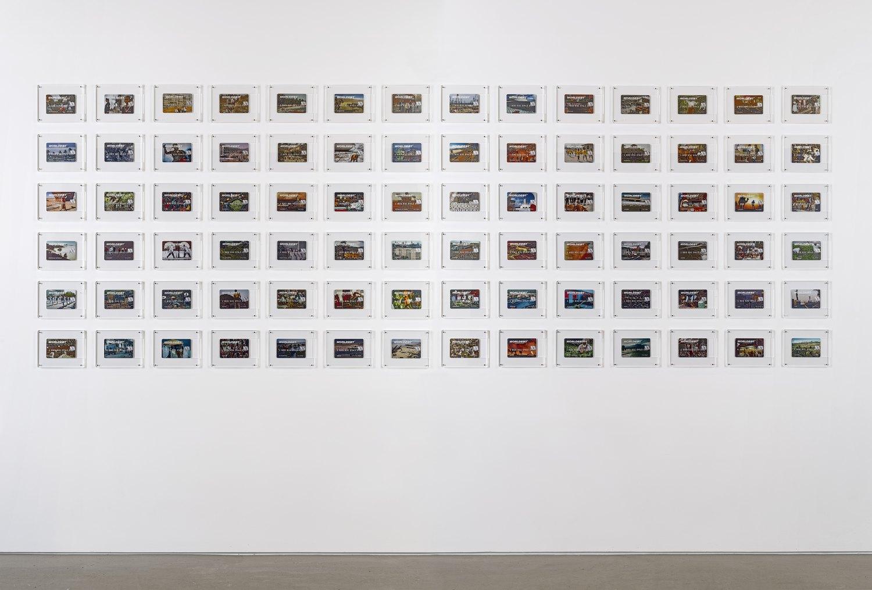 Installation view, John Knight, Worldebt, Galerie Neu at The Intermission, Piraeus, 2019