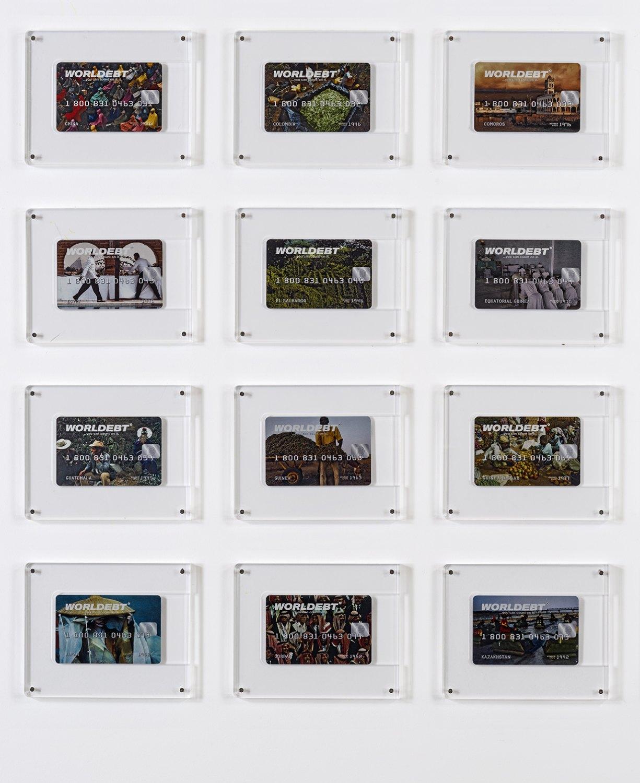 Installation view, John Knight,Worldebt, Galerie Neu at The Intermission, Piraeus, 2019