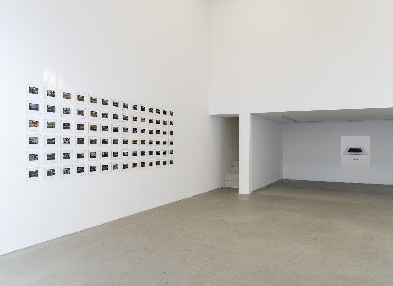 Installation view, John Knight, Worldebt, Galerie Neu at The Intermission, Piraeus, 2019