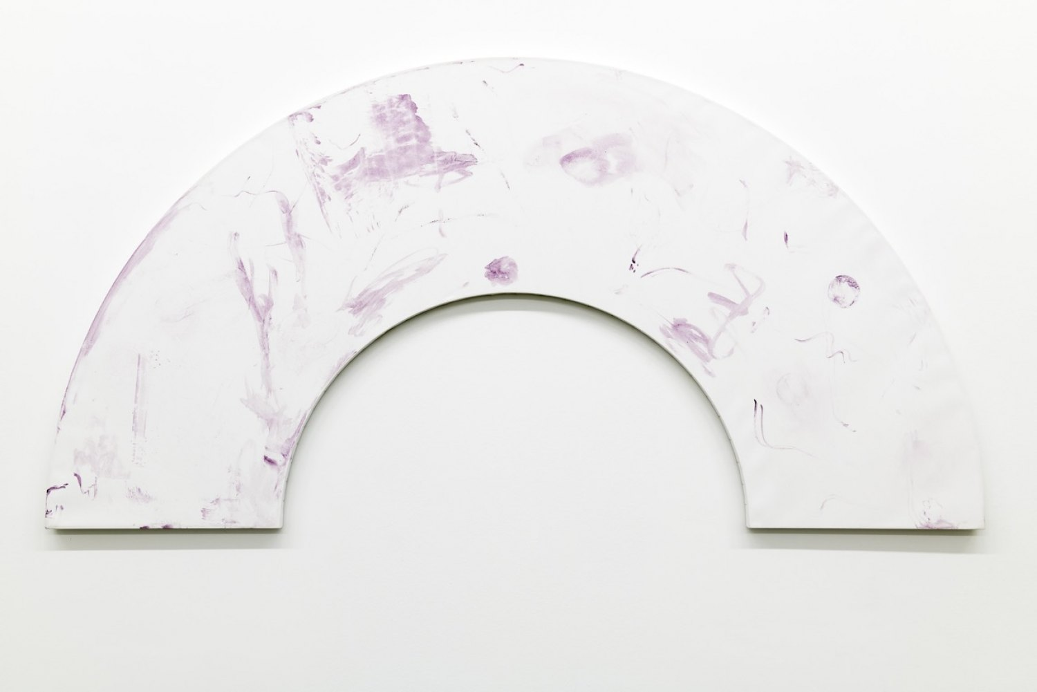 Fan, 2020, Tyrian purple on canvas, 218 x 109 x 2.5 cm