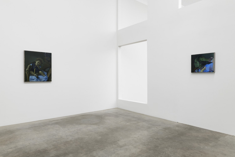 Installation view, Victor Man, Die Rose ist ohne Warum. Sie blühet weil sie blühet, Galerie Neu, Berlin 2020
