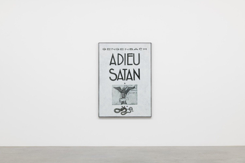 Victor Man Untitled (Adieu à Satan), 2020 Oil on canvas 172,5 x 123 x 5,5 cm