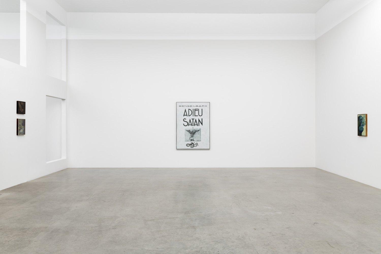 Installation view, Victor Man,Die Rose ist ohne Warum. Sie blühet weil sie blühet, Galerie Neu, Berlin 2020