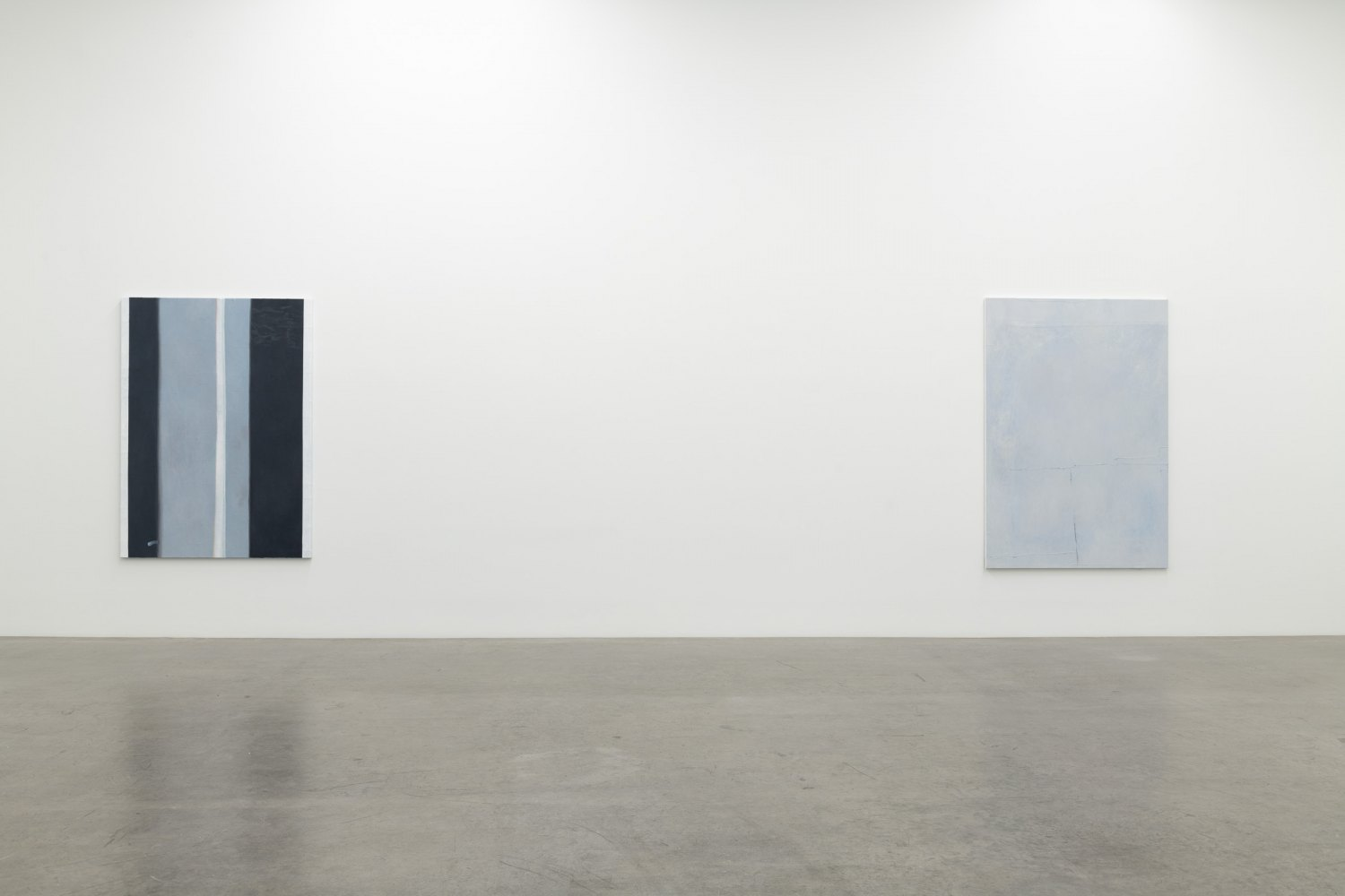 Installation view, Sergej Jensen, Abstract Paintings, Galerie Neu, Berlin 2020