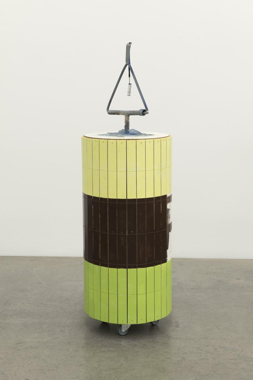 Manfred Pernice Goethe3, 2018 Wood, paint, metal, USB-stick, foam concrete 134 x 42 x 42 cm