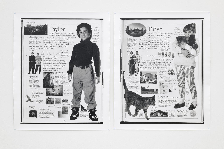 Win McCarthy Taryn & Taylor, 2021 Silver gelatin prints, push pins each 101 x 82 cm