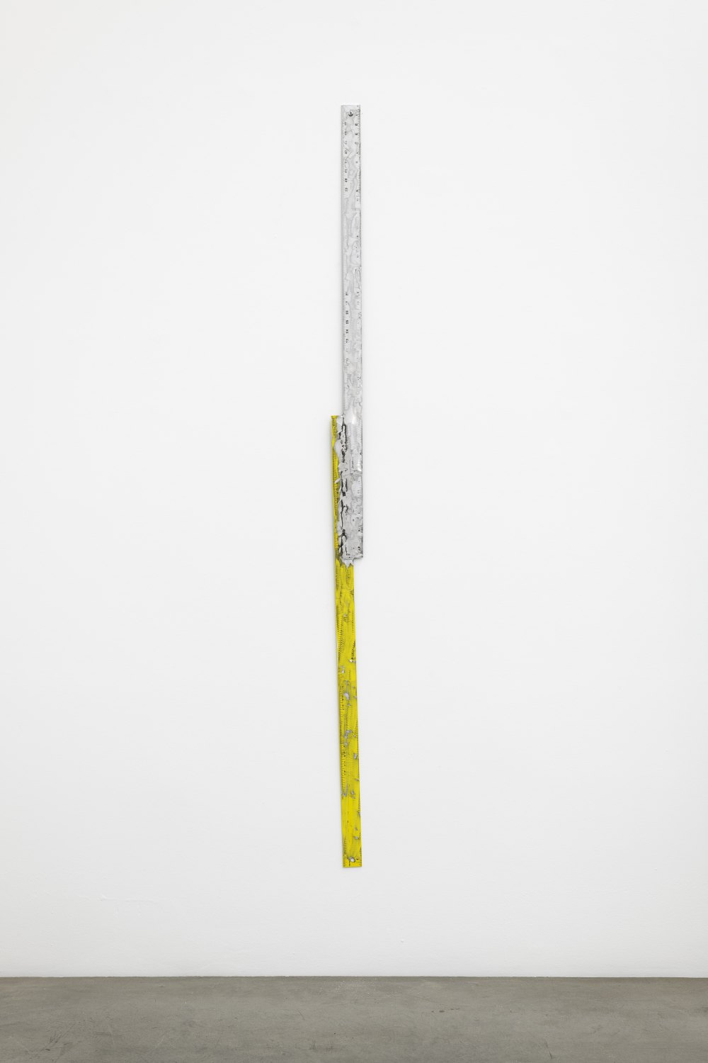 Win McCarthy Untitled (Conjoined Line), 2021 205 x 8.5 cm Welded aluminum rulers