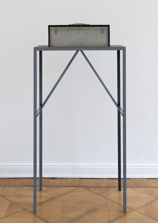 Alex Hubbard Studio 6, 2014 Urethane and steel, box: 20.2 × 51 x 20 cm, plinth: 127 × 73.6 × 43 cm